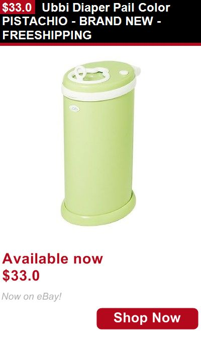 Diaper Disposal: Ubbi Diaper Pail Color Pistachio - Brand New - Freeshipping BUY IT NOW ONLY: $33.0
