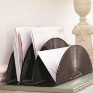 Letter Rack using vinyl records