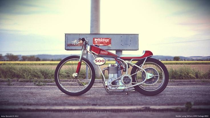 Jawa Speedway Bike Cafe Racer Speedway Racing Grass