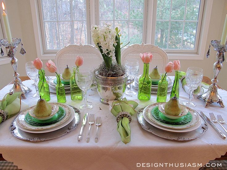1942 best spring tablescapes images on pinterest easter for Beautiful table settings for spring