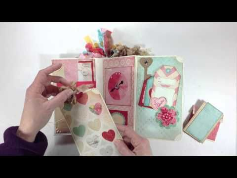 "▶ Crate Paper ""14"" Vertical Paper Bag Mini Album - YouTube"