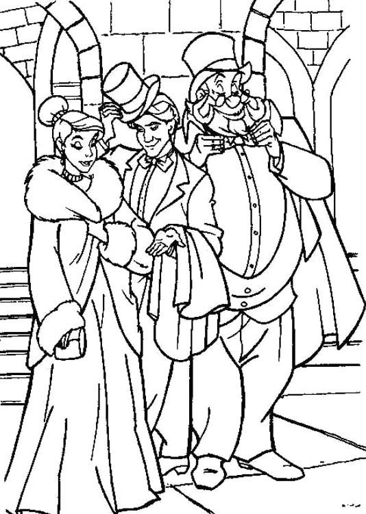Princess Anastasia Was With Her Friend Coloring Pages