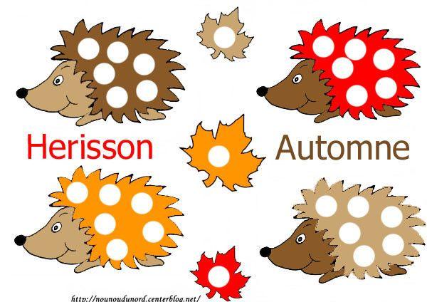 http://nounoudunord.centerblog.net/3380-coloriage-4-herissons-automne-a-gommette