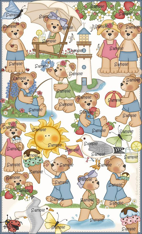 Craft Clipart 8: Summer bears