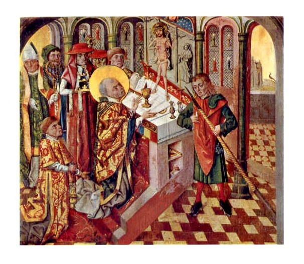 Bernt Notke and others, Mass of St. Gregory, High Altar, Arhus Cathedral, 1479