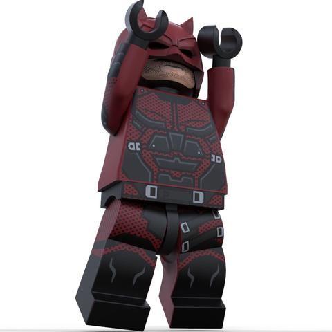 Daredevil Custom LEGO® Minifigure LIMITED EDITION - Pre-Order
