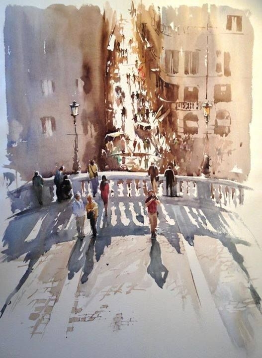 Art Of Watercolor: Igor Sava (Moldova - Italy)
