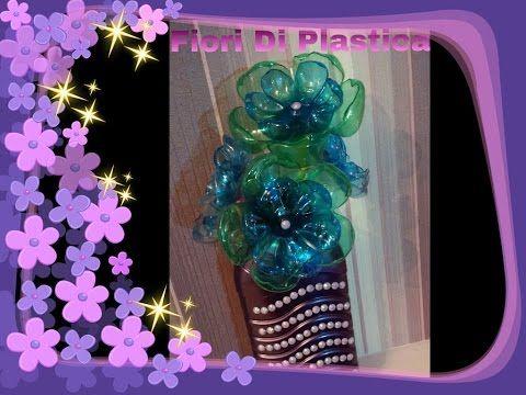 Tutorial fai da te DIY: orecchini in plastica riciclata - YouTube