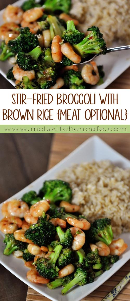 This stir-fried broccoli is amazing. Like, addicting amazing. And actually, the broccoli is the star of the show even when I throw in shrimp or chicken.