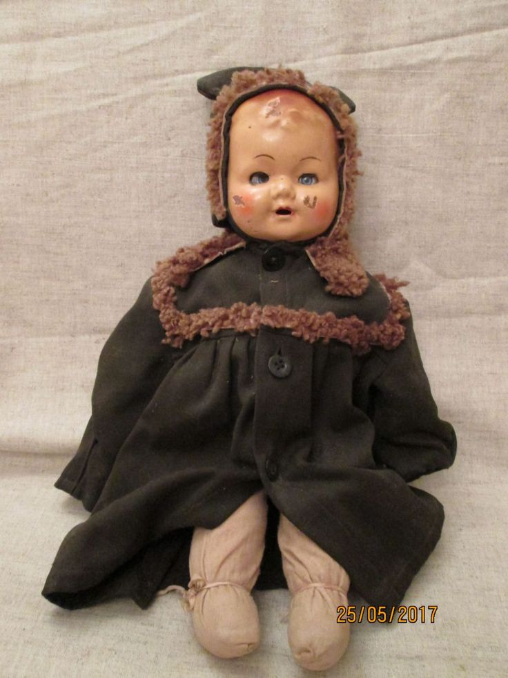Кукла  довоенная,опилки,винтаж  СССР,редкая