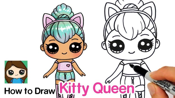 How to Draw Kitty Queen LOL Surprise Doll in 2019 Cute