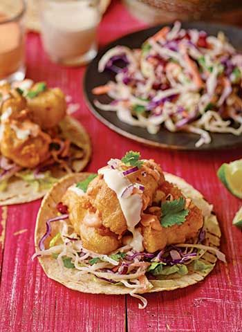 Baja Fish Taco Recipe I Make this recipe from the Mexican street food legends Death by Burrito I Made with white fish of  your choice, corn tortillas and Mexican beer.