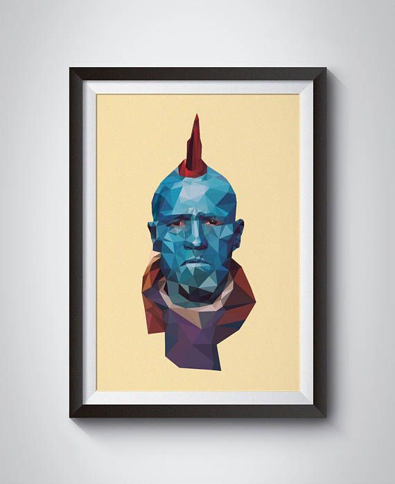 An illustration of Yondu from the Marvel film Guardians Of The Galaxy. This illustration makes a perfect alternative gift idea for any movie fan looking for a unique piece of wall art.  Created using Illustrator, and a Wacom tablet. Printed with a Canon Fine art printer  Current sizes available:  A4 (8.3 x 11.7 in) Satin photo paper A3 (11.7 x 16.5 in) Satin photo paper