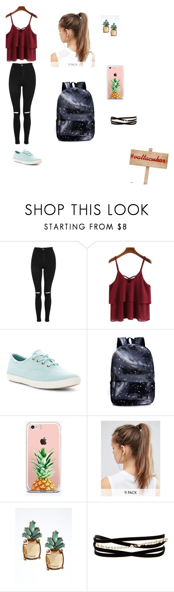 iskola kollekció by kalovics-dominika on Polyvore featuring Topshop, Keds, Banana Republic, Kenneth Jay Lane, NIKE and The Casery