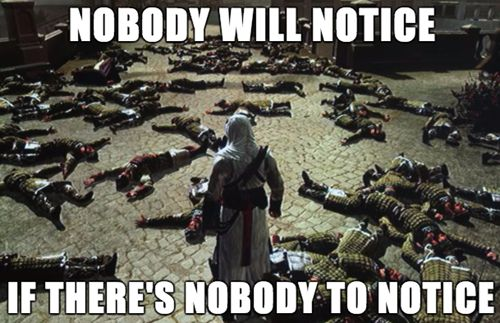 I don't play Assassin's Creed, but I've had a similar situation in Skyrim XD