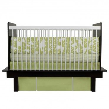 Oilo 3 Piece Crib Bedding Set  (Modern Berries Motif - Spring Green) - www.rightstart.com: Oilo Cribs, Spring Green, Berries Motif, Modern Berries, Cribs Sets, Green Berries, Cribs Beds Sets, Pieces Cribs, Sets Modern