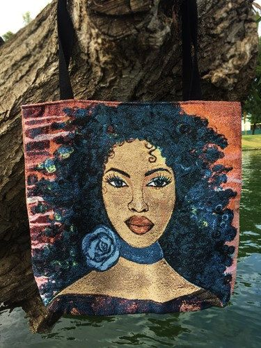 Blue Rose Tote Bag by DDBProductions on Etsy
