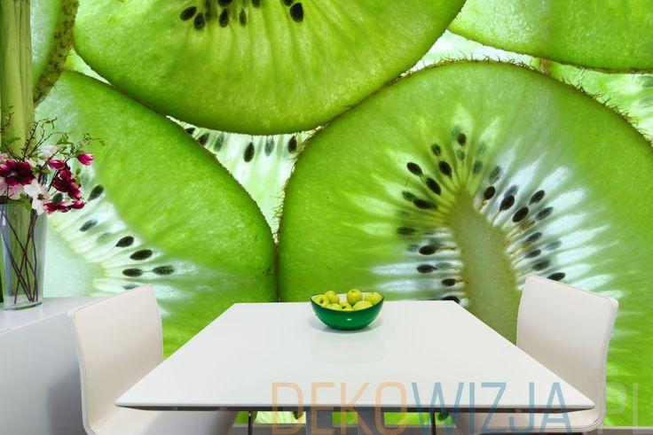 Fototapeta do jadalni ze świeżymi plastrami kiwi
