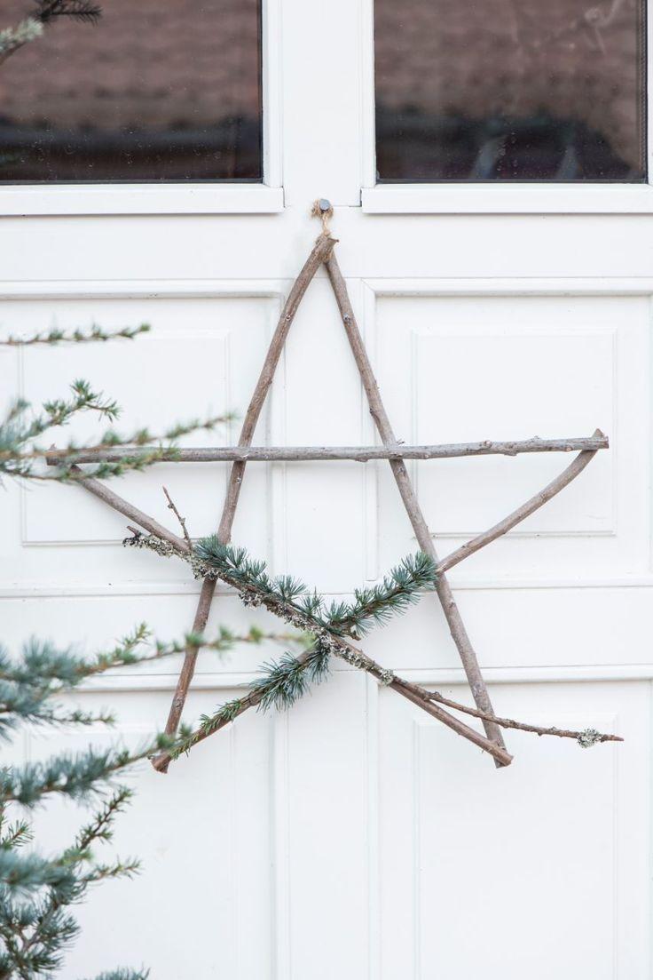 Velká vánoční hvězda z dřevěných klacíků | Bella Rose