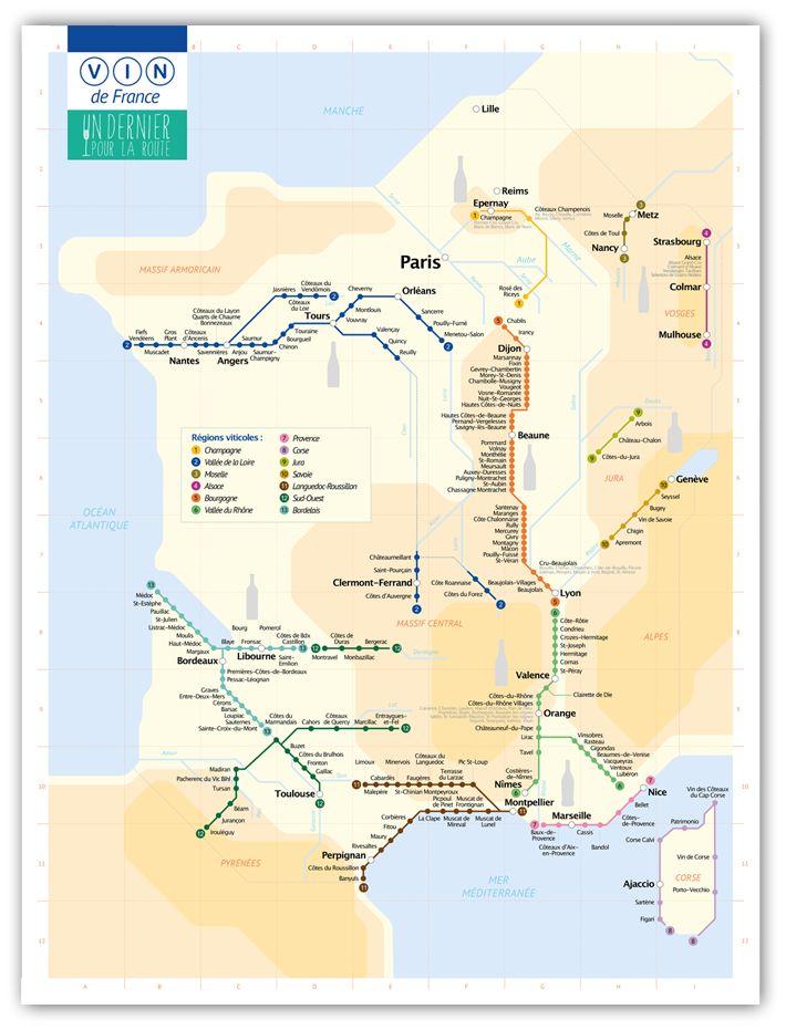 Le plan de Métro du Vignoble Français