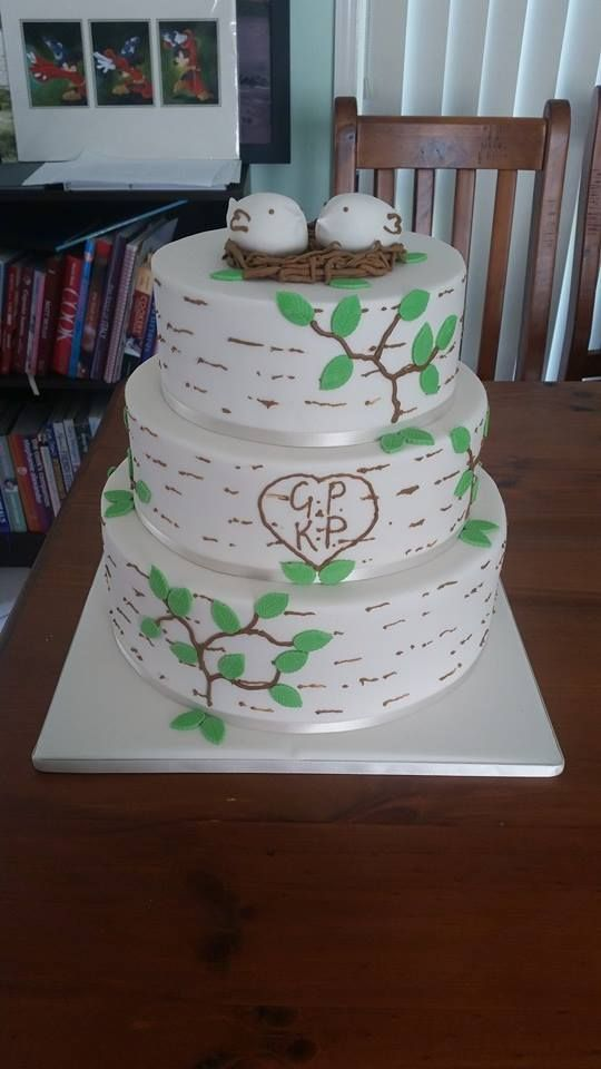 'Love Bird' Wedding Cake
