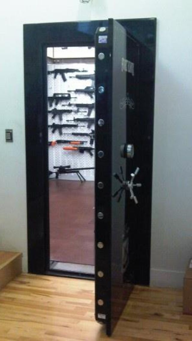 165 best gun rooms display and storage images on pinterest for Built in gun safe room
