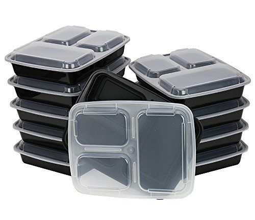 This is a great buy for everyone who is getting into meal prep and meal planning. 10 pack of containers for just $17.49. BPA Free and microwave safe. (10 Pack) 3 Compartment Containers w/ Cover from ChefLand http://www.amazon.com/dp/B00LWDQWV0/ref=cm_sw_r_pi_dp_TsNAub0YY69M1