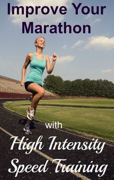 Yes, you can improve your marathon with high intensity speed training! Try this workout during the last 8 weeks of marathon training and you will improve you running economy.