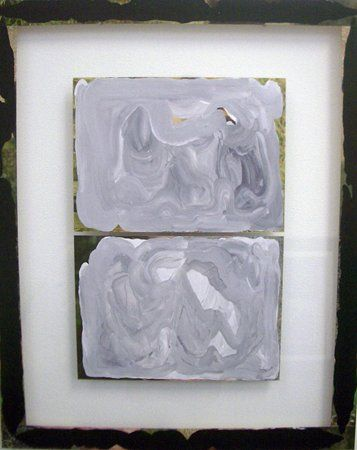 Sean Bailey, Untitled, 2012, synthetic polymer paint and collage on glass, 68 x 55 cm