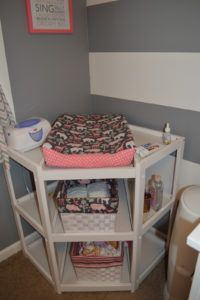 Badger Basket Corner Changing Table Espresso
