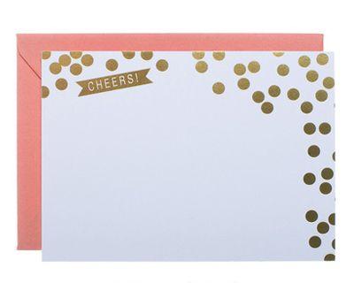 cute holiday cardsCards Ideas, Polka Dots, Cute Cards, Holiday Notecards, Gold Foil, Fun Notecards, Holiday Cards, Diy Notecards, Note Cards