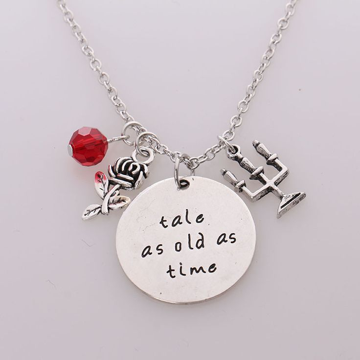 """""""Tale as old as time"""" Beauty and the Beast Necklace Pendant  Price: 6.70 & FREE Shipping  Get it here ---> https://thegiftscafe.com/beauty-and-the-beast-necklacetale-as-old-as-timehand-stamped-letter-pendant-with-rosecandelabracrystal-necklace-for-women/ Like Our FB Page --> https://www.facebook.com/EazyDevices/  #wirelessdevices"""