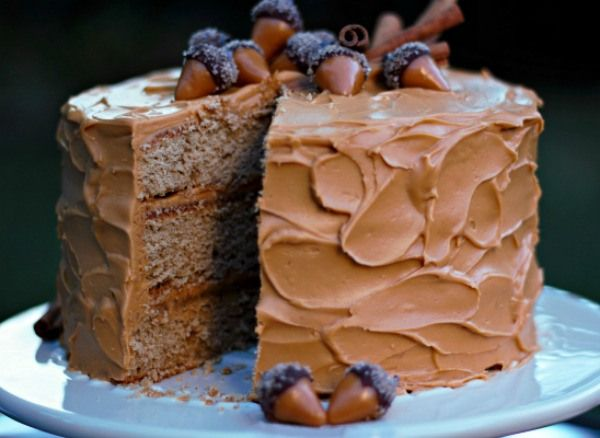 Spiced Cake with Dulce de Leche Frosting   urbanbakes.com