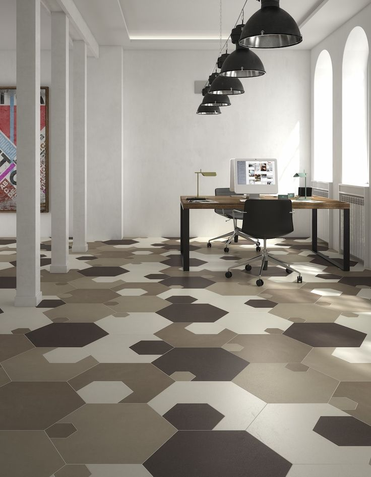DEFERRARI+MODESTI designed a collection of hexagonal porcelain tiles that can be puzzled into each-other and combined countlessly.  http://www.archipanic.com/x-gon-porcelain-tile-puzzle/ Photo: courtesy of Mirage