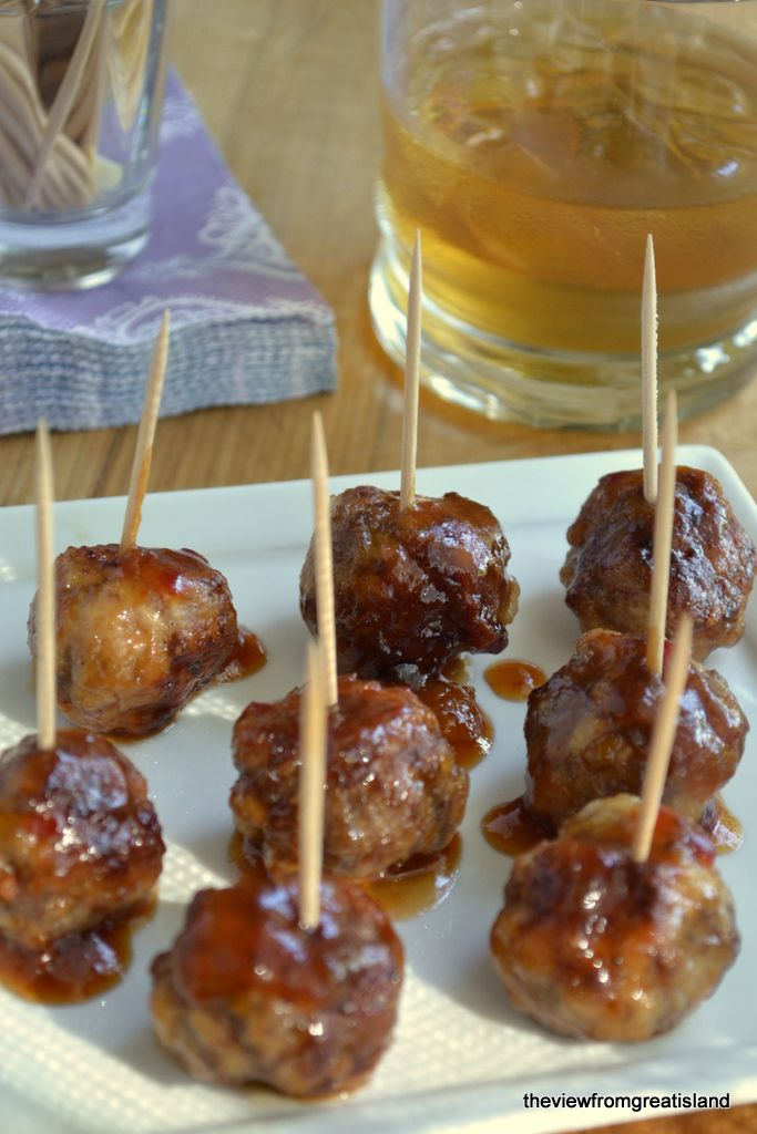 It's Five O'Clock Somewhere Friday: Bourbon Meatballs - The View from Great Island