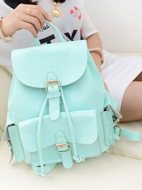 Choies Mint Green Preppy Style Backpack   Choies