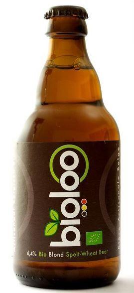 Cerveja Belgoo Bioloo Blond, estilo Belgian Specialty Ale, produzida por La Binchoise, Bélgica. 6.4% ABV de álcool.