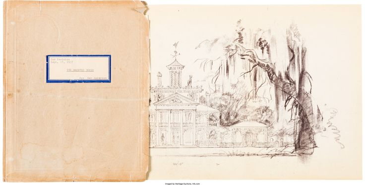 Up for auction: the never-seen original 1957 Haunted Mansion prospectus
