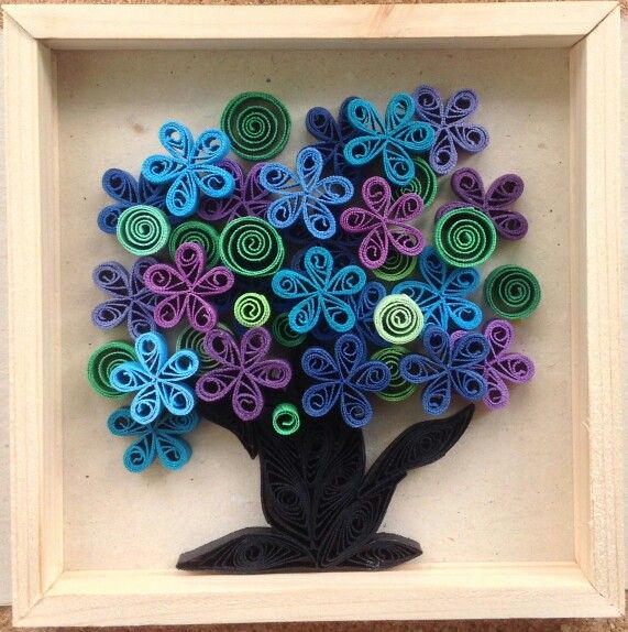 Quilling tree, I love the colors!