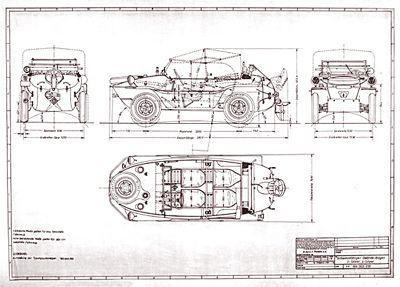 schwimmwagen type 166 construction drawings