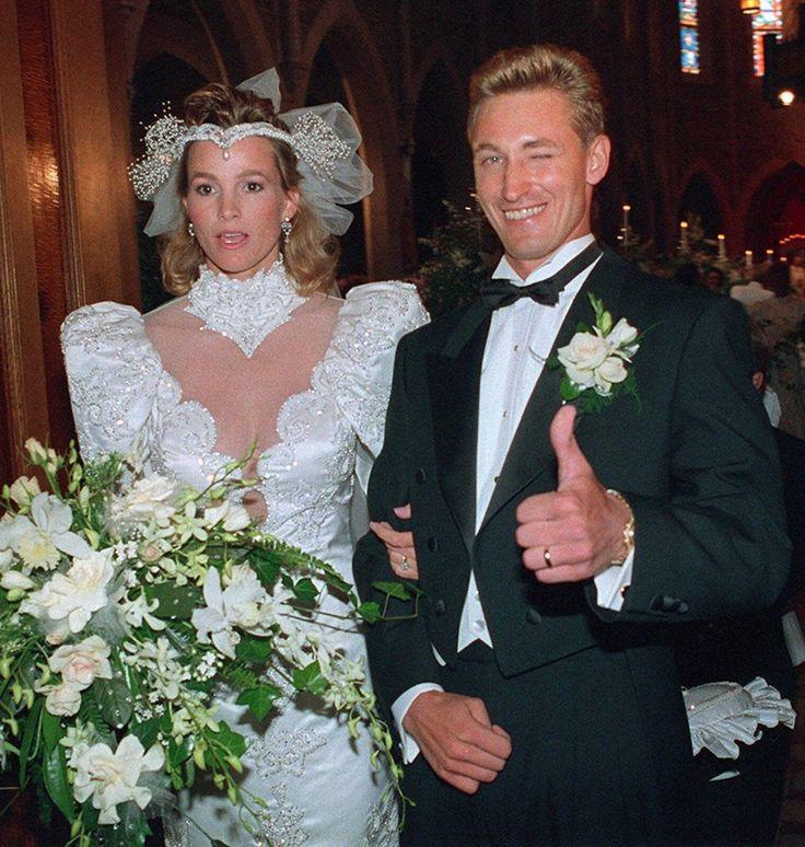 Wayne Gretzky leaving his wedding ceremony  1988