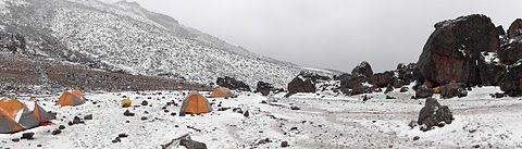 Lava tower camp. day 3 on kilimanjaro