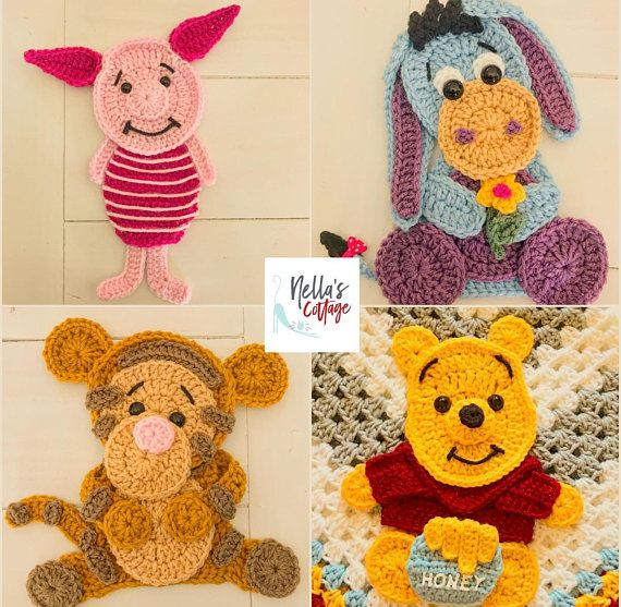 Häkelanleitung – SOFORTIGER PDF-DOWNLOAD – Häkelapplikationen – Applikationen -…   – Crochet patterns