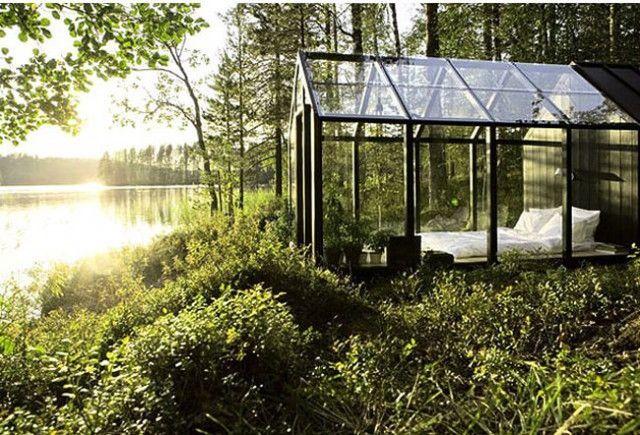 Garden Glass House – Fubiz™Beds, Dreams, Greenhouses, Places, Green House, Bedrooms, Glasses House, Glasshouse, Gardens Sheds