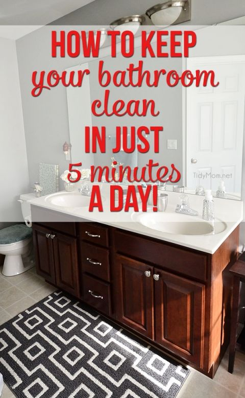 How To Keep Your Bathroom Clean In Just 5 Minutes A Day