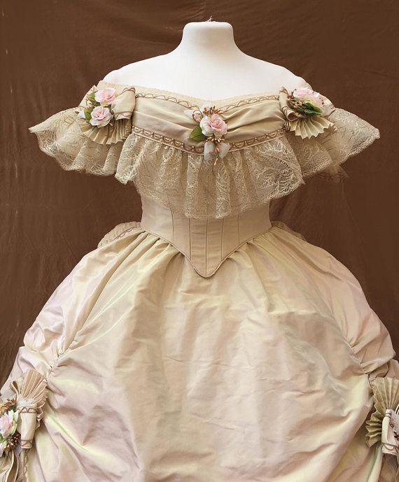 Abiti Da Sera 1860.1860s Ballgown Victorian Dress Abiti Vintage Vestiti Vittoriani