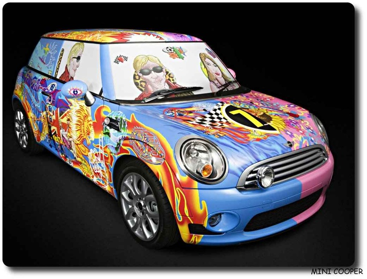 A psychedelic Mini... what else can you ask for?: Aldridge Minis, Animal Cars, Art Cars, Cooper Cars, Minis Cooper, Aldrdig Minis, 2009 Minis, Psychedelic Minis, Cars Art