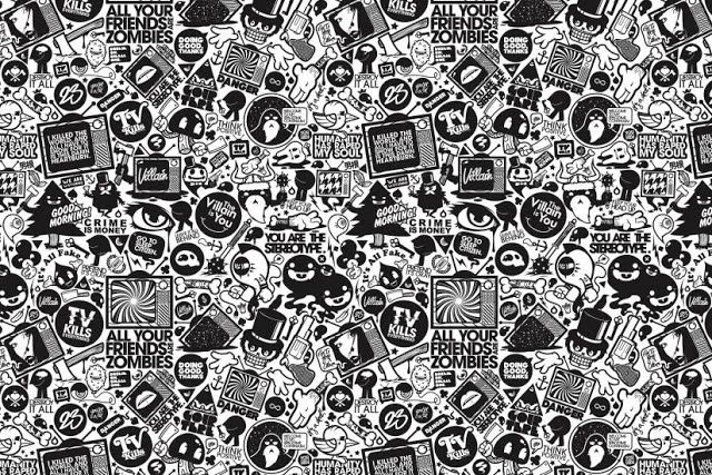 Pc Wallpapers Black And White Cartoon Black Wallpapers Tumblr Cartoon Wallpaper