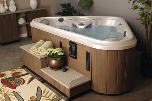 83 best hot tubs spas images on pinterest jacuzzi tub for Small hot tubs for small spaces