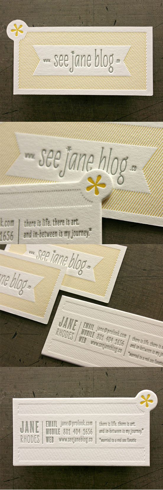 Letterpress Business Card | Business Cards | The Design Inspiration